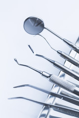 dentist cutlery set dentistry on tray