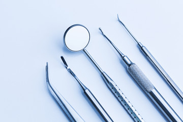 Checkup at the dentist basic cutlery