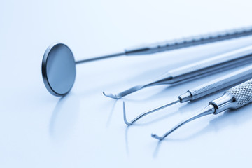 Dental equipment tools, mirror, tweezers