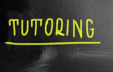 tutoring handwritten with chalk on a blackboard