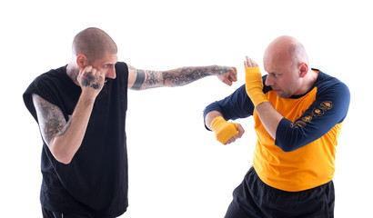 Sparring Training. KAPAP Self Defence System