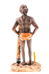 Aborigine figurine back