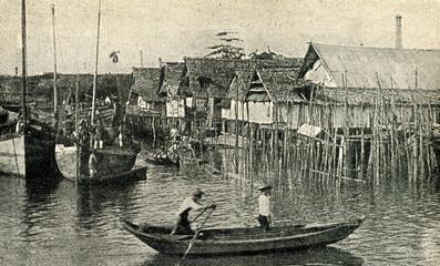 Pile dwellings in Malay Archipelago