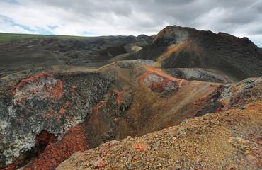 Volcanic landscape, Sierra Negra, Galapagos.