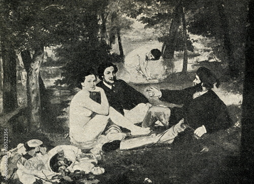 Deurstickers Picknick The Luncheon on the Grass (Édouard Manet, 1863)