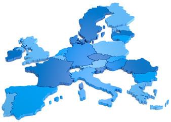 Europa blaue Farbtöne