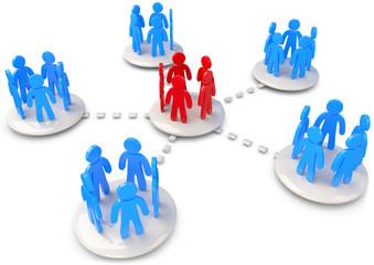Netzwerk verbreiterung kommunikation