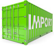 Schiffcontainer Import