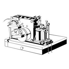 vintage small telegraph apparatus
