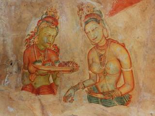 Frescoes at Sigiriya