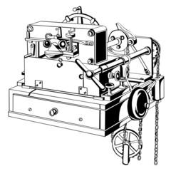 Old telegraph receiving apparatus
