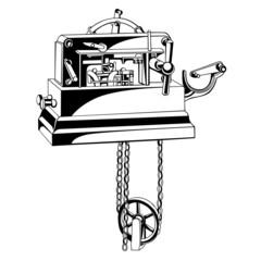 small old telegraph apparatus