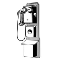 great vintage telephone set