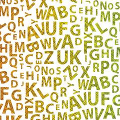 Alphabet Background Vector Template