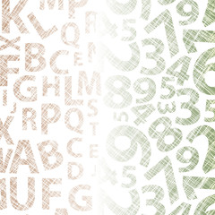 Letters and Numbers Texture - Vector Background