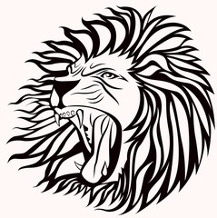 screming lion vector