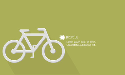 Bicycle,Transport concept,Blank for text,vector