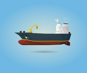 Tanker small cargo ship