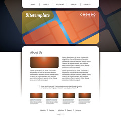 Website Template with Abstract Patterned Design