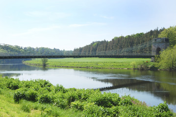 Union Bridge at Horncliffe on river Tweed