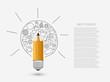 Vector concept pencil with idea.