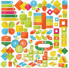 Elements of Infographics,Colorf ul version,vector