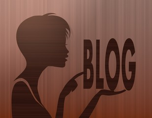 noble woman silhouette with blog