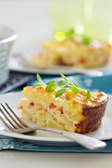 Potato and pepper breakfast gratin