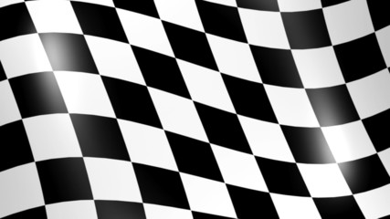 Racing Flag - 3d animation, seamless loop