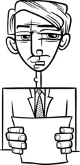 man giving speech cartoon illustration