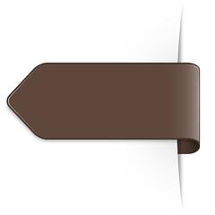 Brauner Sticker Pfeil mit Textfreiraum