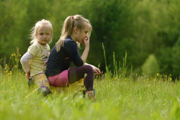 two littles girls