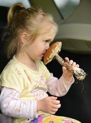 petite fille affiche de champignons