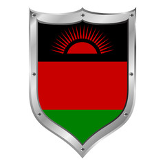 Malawi flag button.