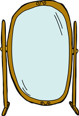 Flip Dressing Mirror