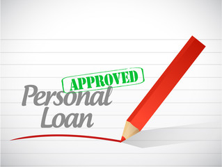 approved personal loan stamp illustration design