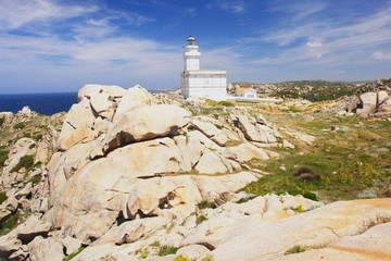 Capo Testa, view of the Lighthouse in Sardinia