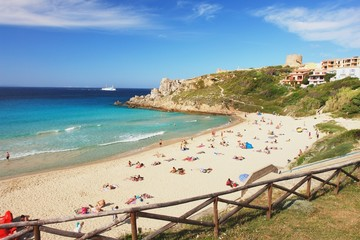 The beach in Santa Teresa Gallura, Sardinia