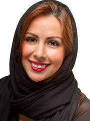 Hispanic Female Wearing Black Scarf