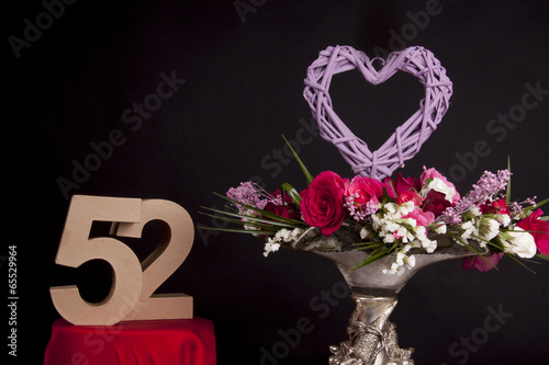 Poster Roses and and age in numbers