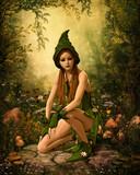 Green Forest Elf, 3d CG