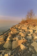 Rocky Sunlit Coast