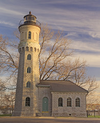 Sunlit Historic Lighthouse