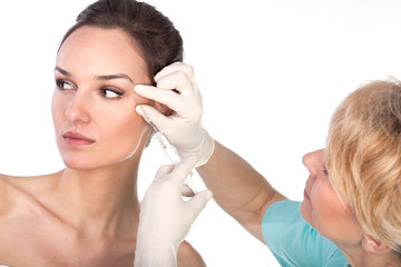 Close-up of botox therapy
