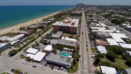 Lauderdale by the Sea Aerial video footage