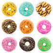 Donuts isolated on white background - 65532307