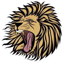 screaming lion vector
