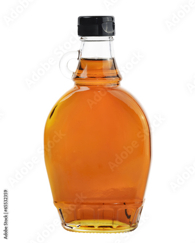 Maple Syrup Isolated On White Background.