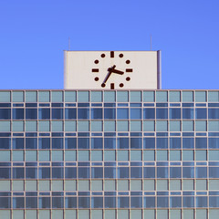 Clock on the top of building