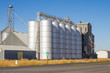 Metal silos and grain elevators
